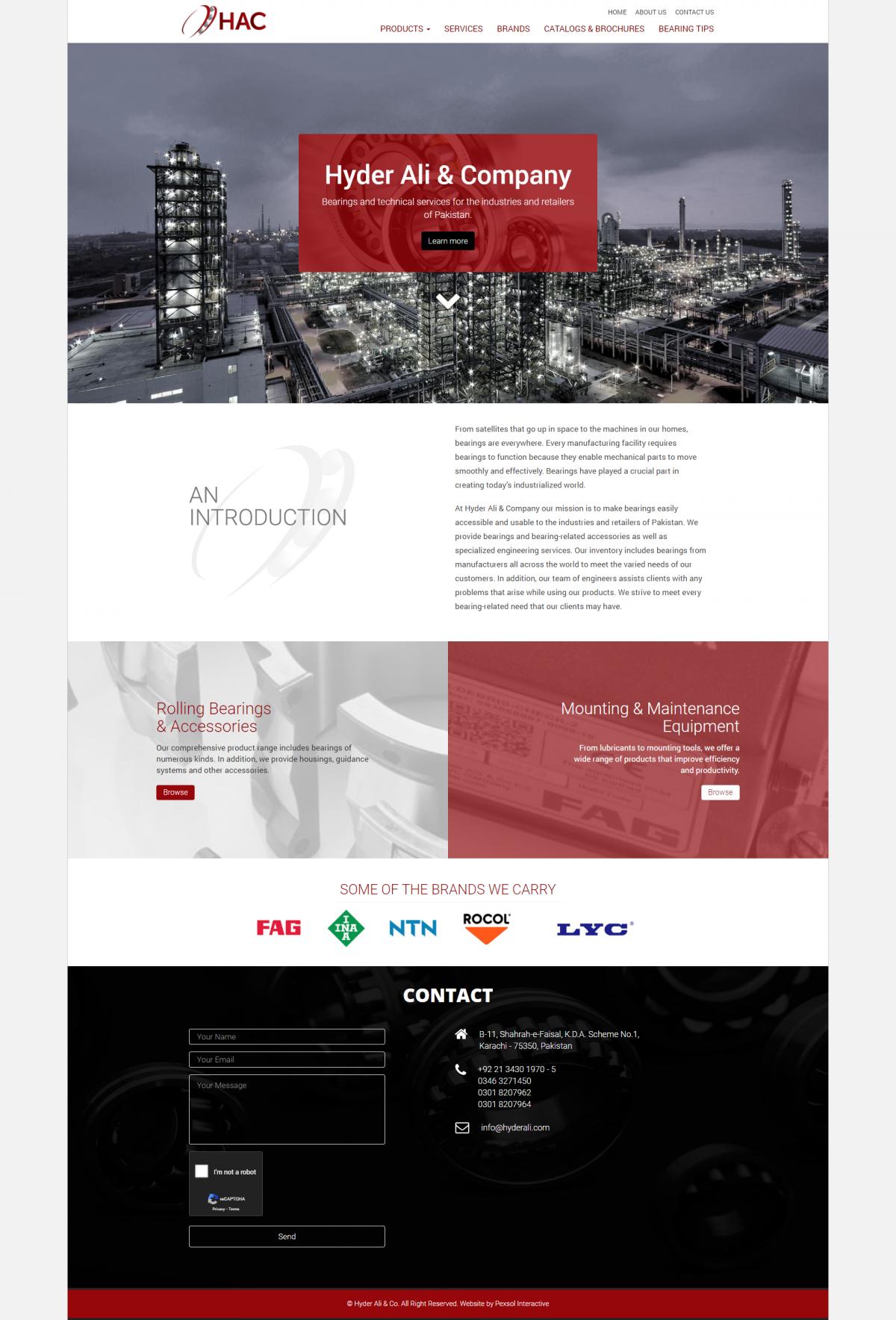 Hyder Ali & Co Website Mockup