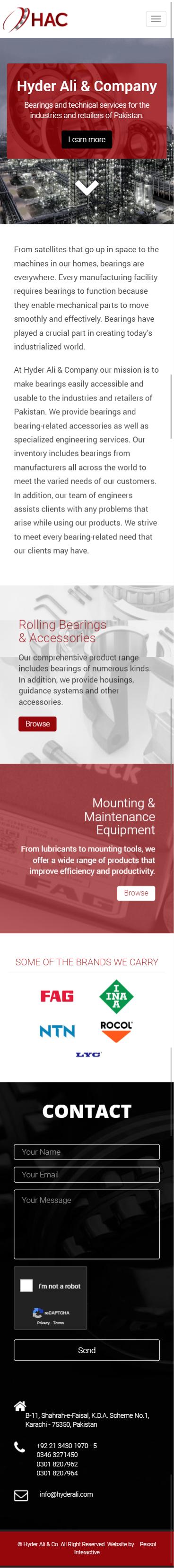 Hyder Ali & Co Website Mobile Mockup 1