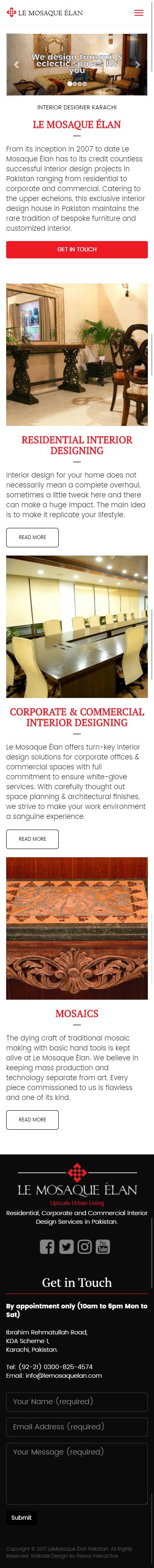 Le Mosaque Élan Website Mobile Mockup 1