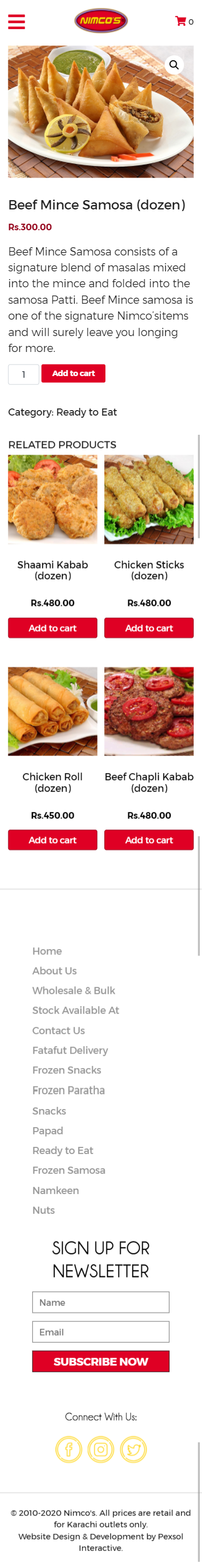 Nimco's, Karachi Website Mobile Mockup 2